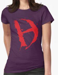 Diamanda Hagan D-H Logo (Red) Womens Fitted T-Shirt