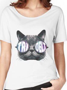 Tri Delta Cat Galaxy Women's Relaxed Fit T-Shirt