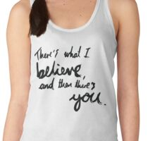 """There's What I Believe..."" Quote From 'In The Flesh' Women's Tank Top"
