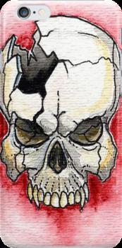 Broken Skull Tattoo  by dvampyrelestat