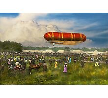 Steampunk - Blimp - Launching Nulli Secundus II 1908 Photographic Print