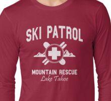 Ski Patrol - Lake Tahoe (vintage look) Long Sleeve T-Shirt