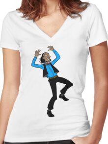 POP POP! Women's Fitted V-Neck T-Shirt