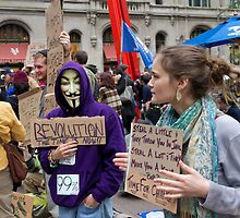 The Masked at Zuccotti Park by Diana Beato