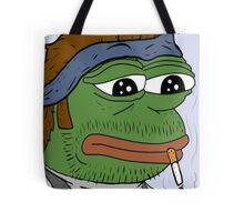 Pepe smoke frog  Tote Bag
