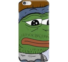 Pepe smoke frog  iPhone Case/Skin