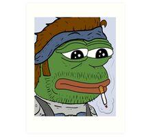 Pepe smoke frog  Art Print