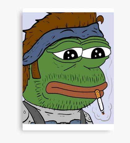 Pepe smoke frog  Canvas Print