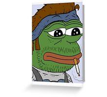 Pepe smoke frog  Greeting Card
