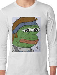 Pepe smoke frog  Long Sleeve T-Shirt