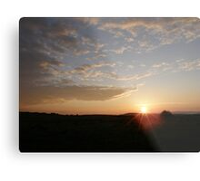 Distant Grainan sunset Metal Print