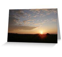 Distant Grainan sunset Greeting Card