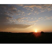 Distant Grainan sunset Photographic Print