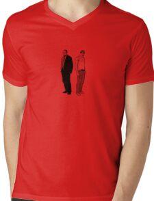 Stringer Bell and Avon Barksdale Mens V-Neck T-Shirt