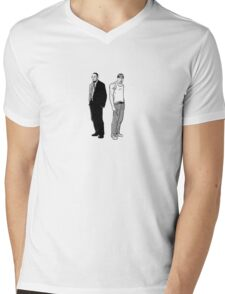 Stringer Bell and Avon Barksdale Mens V-Neck T-Shirt