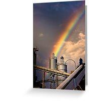 industrial rainbow Greeting Card