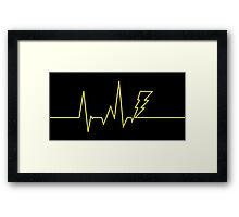 Electric Heartbeat Framed Print