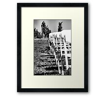 Rows to the Vines Framed Print