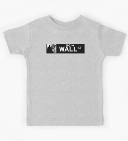 Wall St., New York Street Sign Kids Tee