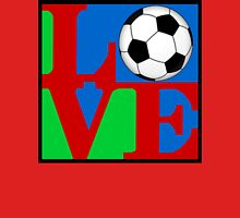 Love Soccer Womens Fitted T-Shirt