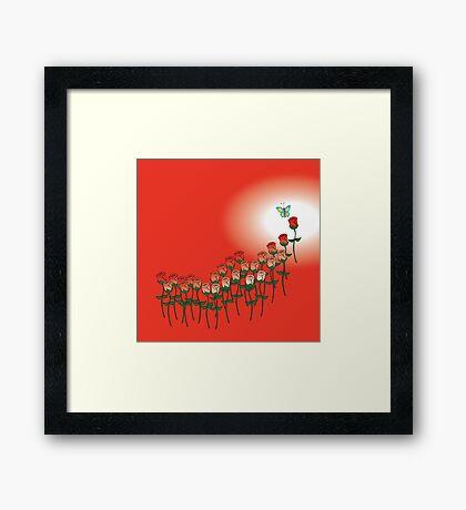 Love Red Rose Framed Print