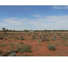 Car in the Aussie Outback Photographic Print