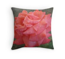 Ruffled Rose Throw Pillow