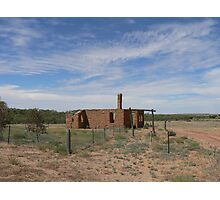 Ruins in the Australian outback Photographic Print