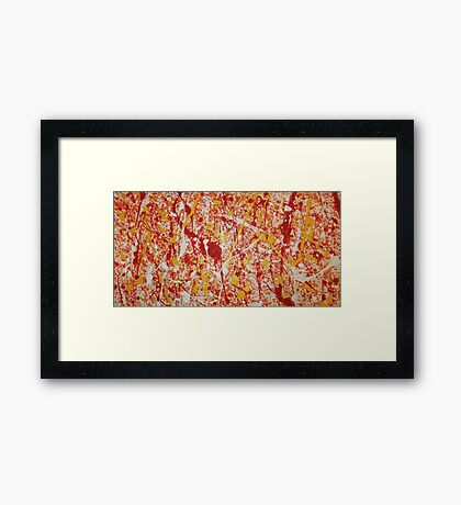 Firebolt Fury Framed Print
