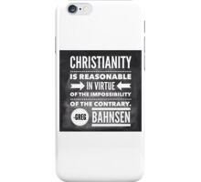 Christianity is Reasonable iPhone Case/Skin