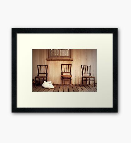 We Three Chairs Framed Print
