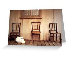 We Three Chairs Greeting Card