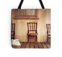 We Three Chairs Tote Bag