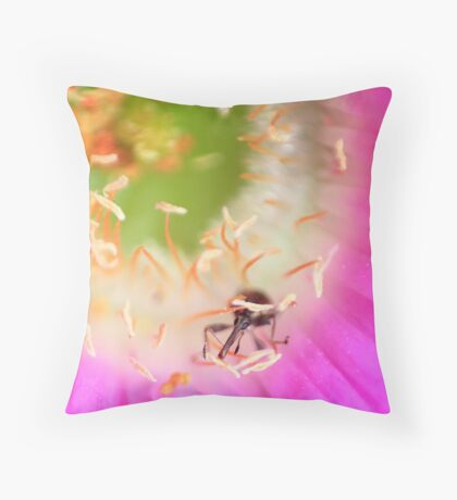 Insect in a flower.  Throw Pillow