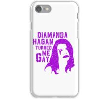 Diamanda Hagan Turned Me Gay (Purple) iPhone Case/Skin