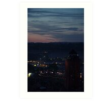 Glastonbury by night Art Print
