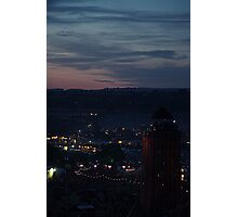Glastonbury by night Photographic Print