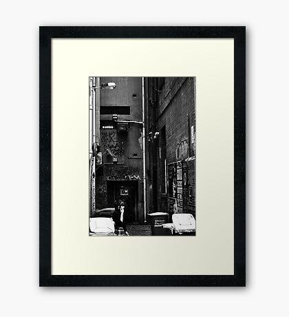 An alleyway in Melbourne Framed Print