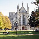 West End, Winchester Cathedral in Autumn, for iPhone by Philip Mitchell