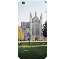 West End, Winchester Cathedral in Autumn, for iPhone iPhone Case/Skin