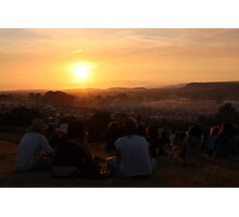 Sunset in Pilton Photographic Print