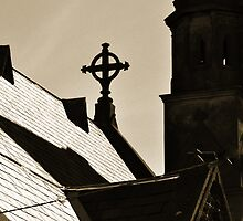 Roof and steeple by Jane  mcainsh