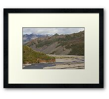 The Toklat River Framed Print