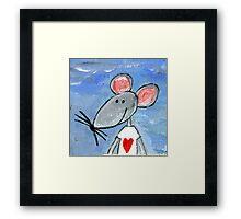 Love Mouse Framed Print