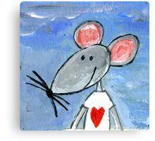 Love Mouse Canvas Print