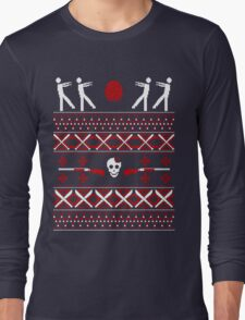Zombie Christmas Shirt Long Sleeve T-Shirt