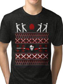 Zombie Christmas Shirt Tri-blend T-Shirt