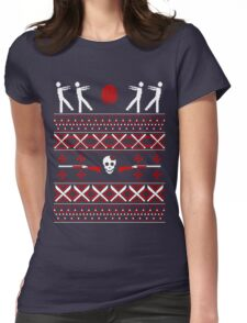 Zombie Christmas Shirt Womens Fitted T-Shirt