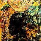 """Who Cares"" Collagraph Print by Belinda ""BillyLee"" NYE (Printmaker)"