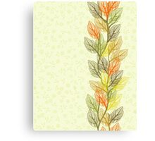 autumn card Canvas Print